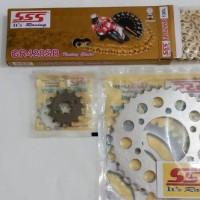 Gir gear set girset gearset SSS Ninja 150 R RR, Rantai SSS SB