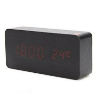 Jual Jam Digital LED Wood Clock Kayu Murah
