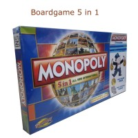 5 in 1 Board Game Monopoli ,Halma ,Ludo ,Catur ,Ular tangga