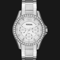 Fossil ES3202 Riley Silver Dial Stainless Steel Bracelet Watch