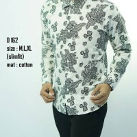 harga Baju batik kemeja pria slimfit D 162 Tokopedia.com