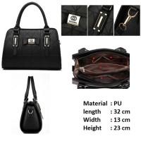 harga tas wanita import korea 6601 black Tokopedia.com
