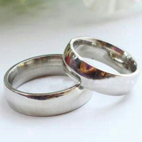 Cincin Couple Sehati Full Silver Metalic Ce*** L Ns.096