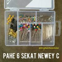 harga Paket Hemat Jarum Pentul & Peniti Premium Newey 6 Sekat 220 Pins Tokopedia.com