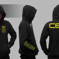 Hoodie Zipper Ohlins CES - Hitam - Zemba Clothing