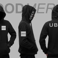 Jaket Uber Online Hoodie Zipper - Hitam 4