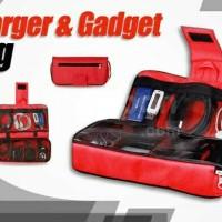 Tas Perlengkapan Smartphone Gadget Charger Organizer Aksesoris Hp