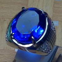 Cincin Batu Blue Obsidian