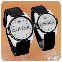 ADIDAS CAT BLACK COUPLE - RUBBER [HARGA SEPASANG]