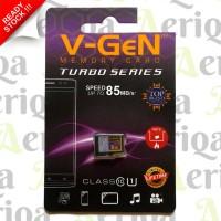 Class 10 Turbo 8 Gb V-Gen Memory Card / Kartu MicroSDHC Original Vgen