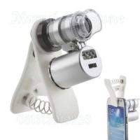 Jual Loupe microscope mini 30x 50x led uv bisa untuk hp Murah