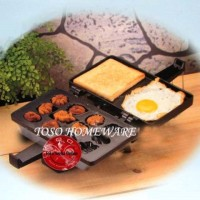 Akebonno Cetakan Bolu Cubit Toaster Doughcake Maker Panggangan Kue2in1