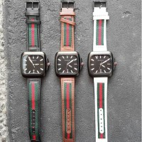 WATCH GUCCI ELEMENT BLACK, BROWN, WHITE JAM TANGAN BAGUS KEREN MURAH