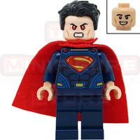 Lego Minifigures SuperHeroes Superman - Dark Blue Suit, Tousled Hair