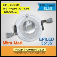 HPL 1 Watt EPILED Blue/Biru 35x35 280-300 mA