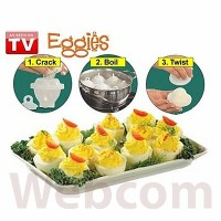Cetakan Telur Rebus Tanpa Kupas Eggies Hard Boils Egg As Seen on TV