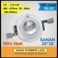 HPL 1 Watt Saman Blue/Biru 30x30 260-280 mA
