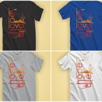 Kaos Rohani Distro Kristen / Katolik - Faith Hope Love