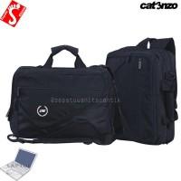 Sale! Tas Laptop 3 in 1 Pria Wanita dengan Rain Cover b MURAH