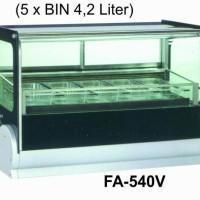CounterTop Ice Cream Cabinet FA-540V / Etalase Pemajang Es Krim Scoop