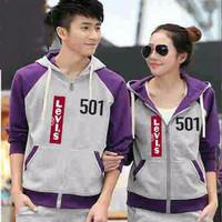 (Tebal) Jaket Pria Wanita Couple Baju Couple 501 Levis Purple 4TOA