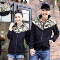 Baju Couple Army Black Jaket Couple Pria Wanita 4N1K