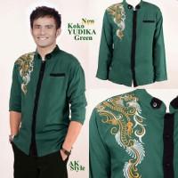 Baju KOKO JUDIKA GREEN Pakaian koko Pria lengan panjang warna Hijau