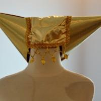 Topi adat padang perempuan tanduk rumah gadang minang aksesoris nikah