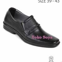 Sepatu Kerja Pantofel Pria Bahan Kulit Max Baghi 2496 Toko Soya