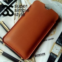 Leather Case Pouch Meizu M2 Note (Sarung Celup HP 5,5 inch)