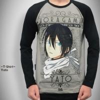 Yato Noragami - T-shirt / Kaos Zerochan Long Sleeve / Panjang Anime