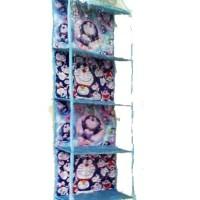 HBOZ Doraemon Biru Muda (Hanging Bag Organizer Zipper) Rak Tas Gantung