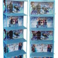 HBO Frozen Biru muda (Hanging Bag Organizer) Rak Tas Karakter