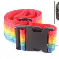 TALI KOPER RAINBOW LUGGAGE STRAP SABUK PENGAMAN TRAVEL BAGS BAG TAS OK