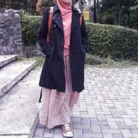 harga Trench Coat BL 045 Black -Jaket Wanita-Coats-Jaket Panjang- Bestseller Tokopedia.com