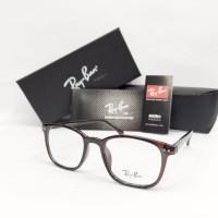 Frame Kacamata Baca Rayban Pria / Wanita Fullset Simpel Dan Murah