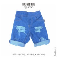 Ripped Jeans Pendek Anak - Celana Short Denim Model Robek