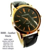 jam tangan wanita kulit brberry hitam full set
