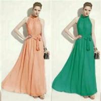 harga Long Dress Bella (Full Sifon + Furing) Bagus Murah Tokopedia.com
