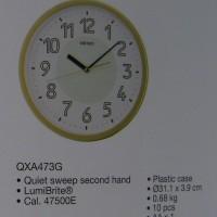 Wall Clock Seiko QXA473-G | Jam Dinding Seiko Original QXA473G