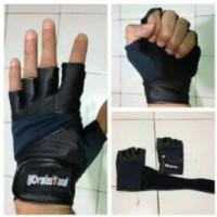 Jual sarung tangan glove fitnes gym lilit panjang Murah