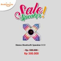 Speaker Bluetooth S1 (X-Men) - Suara Jernih, Deep Bass, Pulse LED
