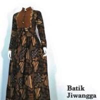 Jual Baju Batik Gamis Monalisa Hitam, Bahan Katun Halus, Busui Murah