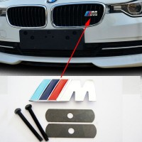 Grill Emblem BMW M Power 3D Chrome ///M Logo Badge sticker Original