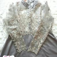 harga amore dress silver ori flh / kebaya wisuda murah / kebaya prewed murah Tokopedia.com