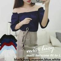 Lucy Top / Sabrina Blouse / Baju Fashion Wanita / Atasan Fashion
