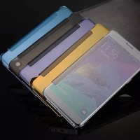 harga FLIP COVER S VIEW Samsung Note 4 / Note 5 Auto lock sleep wallet case Tokopedia.com