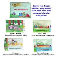 Mainan edukatif edukasi anak bayi balita buku bantal Alat Transportasi