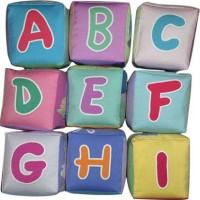 Mainan edukatif / edukasi anak bayi balita, KUbus Abjad unik empuk