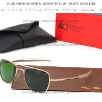 AO American Optical Skymaster Pilot - Silver / Green Glass Lens